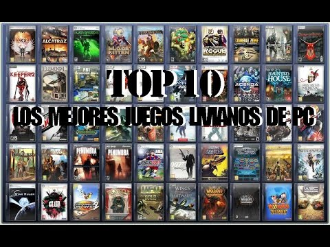 TOP #10| JUEGOS LIVIANOS PARA PC + LINKS - YouTube