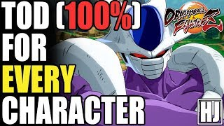 (32) A TOD (100%) Combo For EVERY Character (Including ALL of Season 1 DLC) In Dragon Ball FighterZ