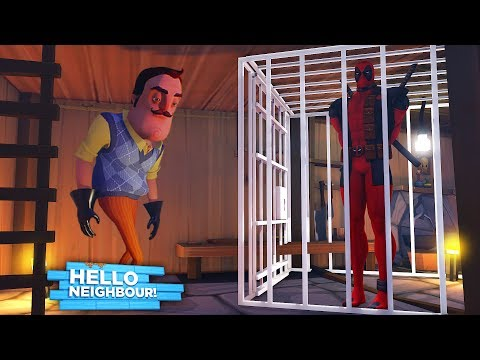 Minecraft HELLO NEIGHBOR - THE NEIGHBOR HAS DEADPOOL TRAPPED IN HIS BASEMENT!! - Donut the Dog