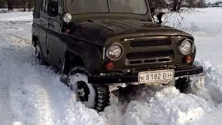 Покатушки УАЗ 469 Зима