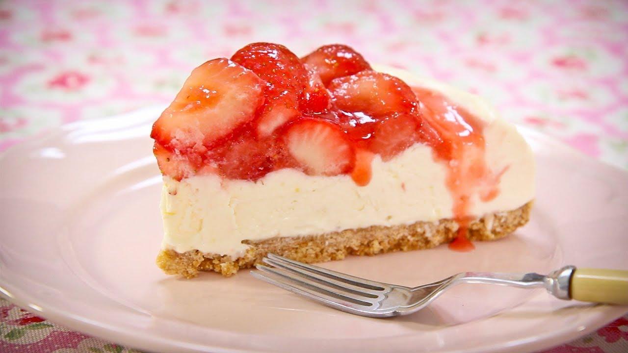 Simple Cheesecake Recipe Strawberry