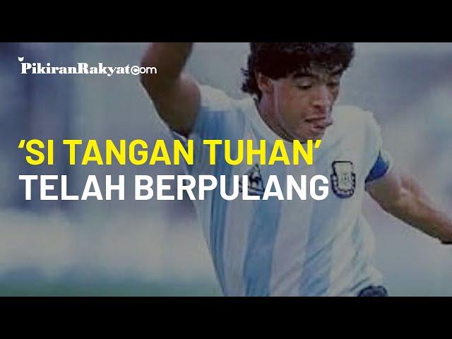 Berita Duka, Akibat Serangan Jantung, 'si Tangan Tuhan' Diego Maradona Meninggal Dunia