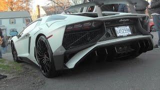 Matte White Lamborghini Aventador LP 750-4 SV - Walkaround - Sound!
