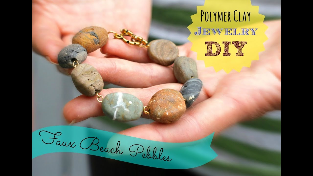 Diy faux stone jewelry from polymer clay inspired by for How to make rock jewelry