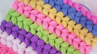 Çapraz Fıstık Lif/ Saç Örgü Fıstık /Puff Stitch