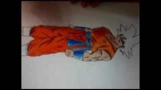 Desenho e Pintura de Goku (Dragon Ball Z) Diego Arte
