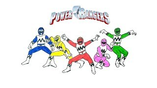 How to Draw the Power Rangers