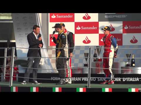 Interview of Daniel Abt, Tio Ellinas and Matias Laine after GP3 race @ Monza, Italy 8.9.2012