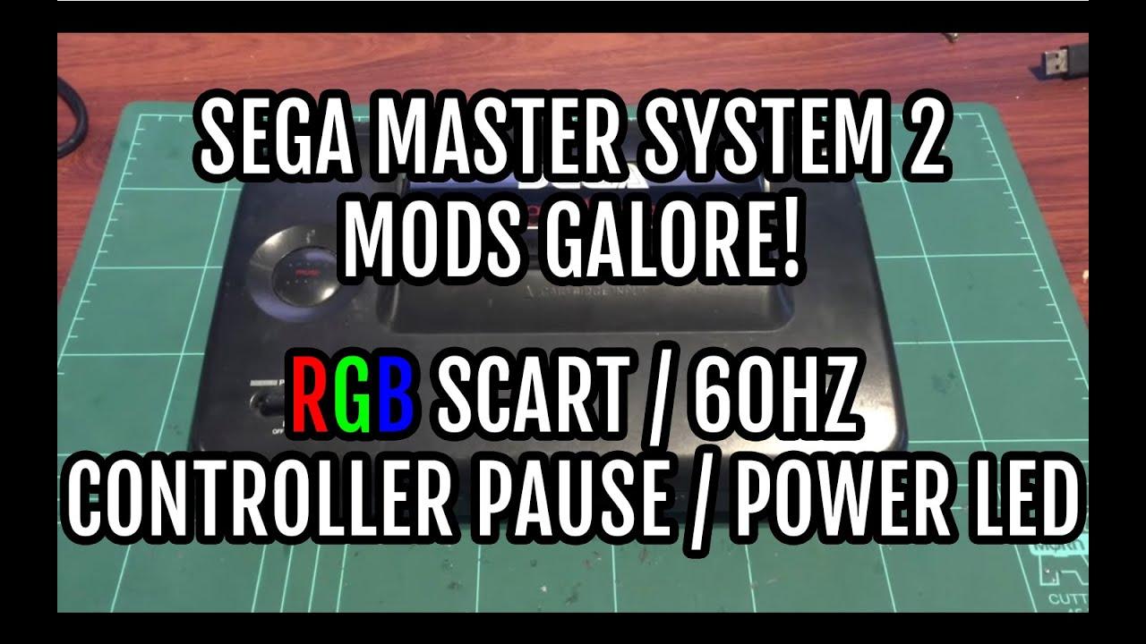 Sega Master System 2 Detailed Mods Tutorial - RGB SCART | 60hz ...