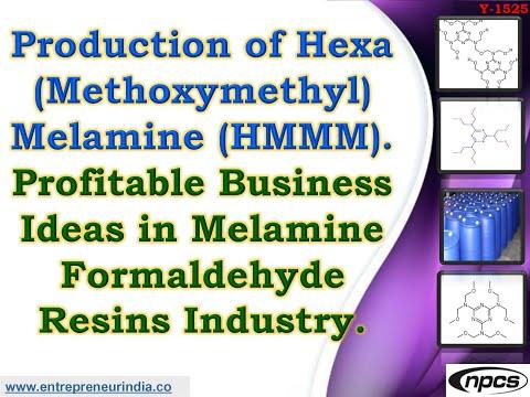 Production Of Hexa (Methoxymethyl) Melamine (HMMM).
