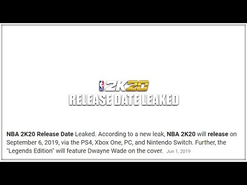 NBA 2K20 Prelude RELEASE DATE LEAKED!