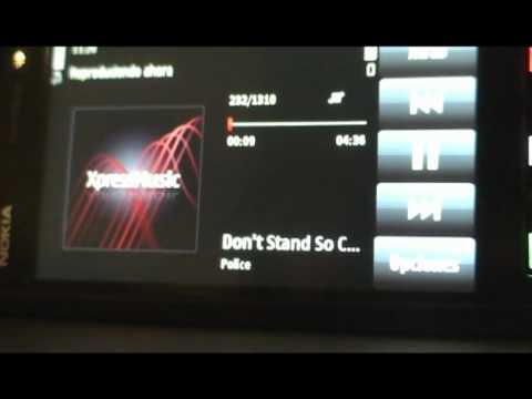 Reproductor MP3 del Nokia 5800 Xpress Music