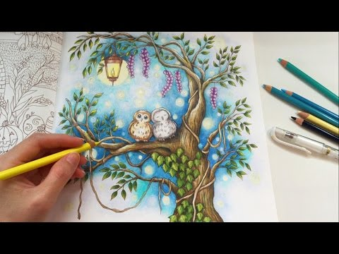 STARRY NIGHT | Romantic Country The Second Tale | Coloring With Colored Pencils