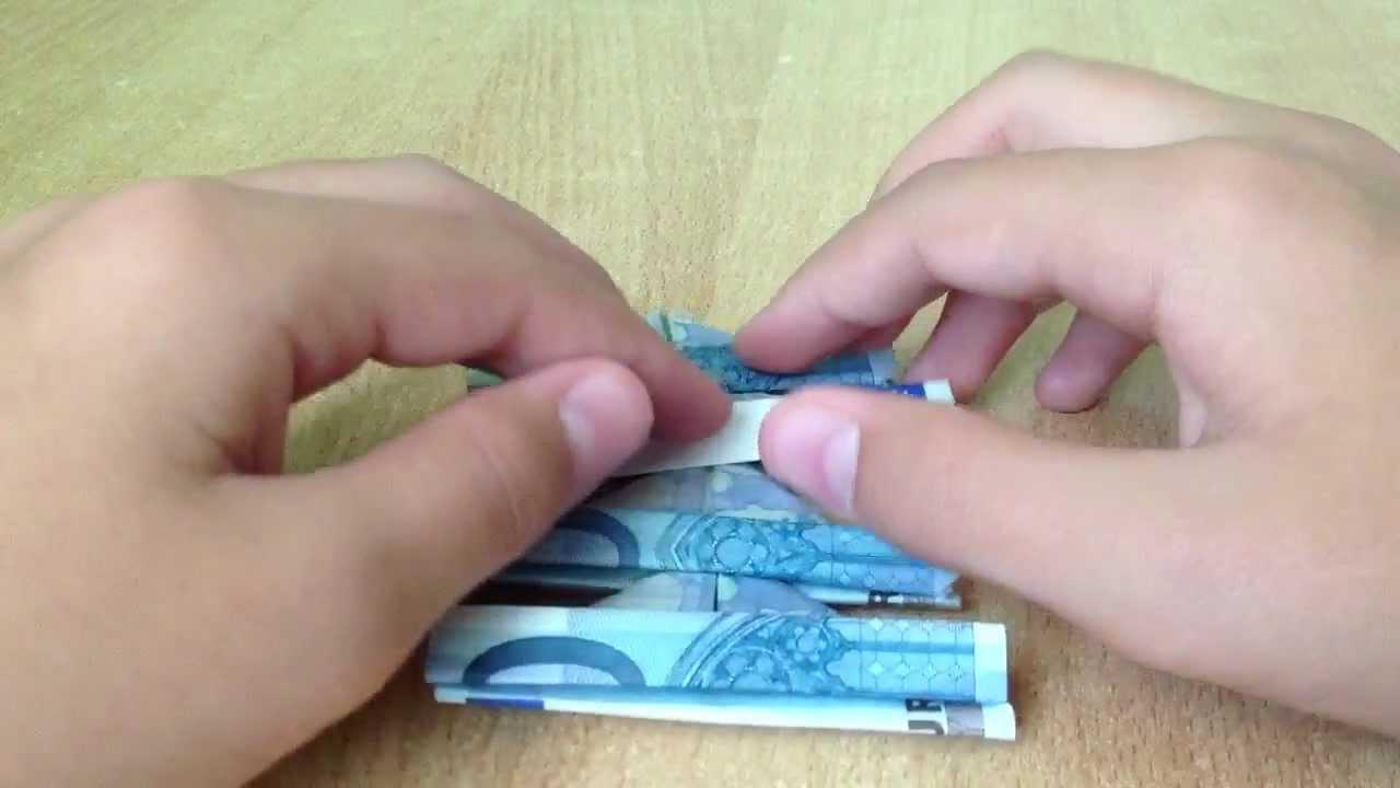Aus Geldscheinen Einen Baum Falten Bastelanleitung Youtube