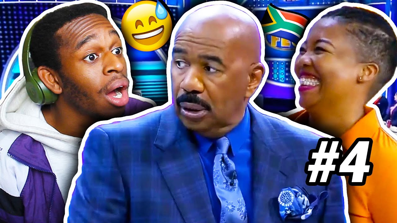 Naked & Home Alone, Huh.. Steve, Relax!!! | AMERICAN Reacts to South African Family Feud | #4