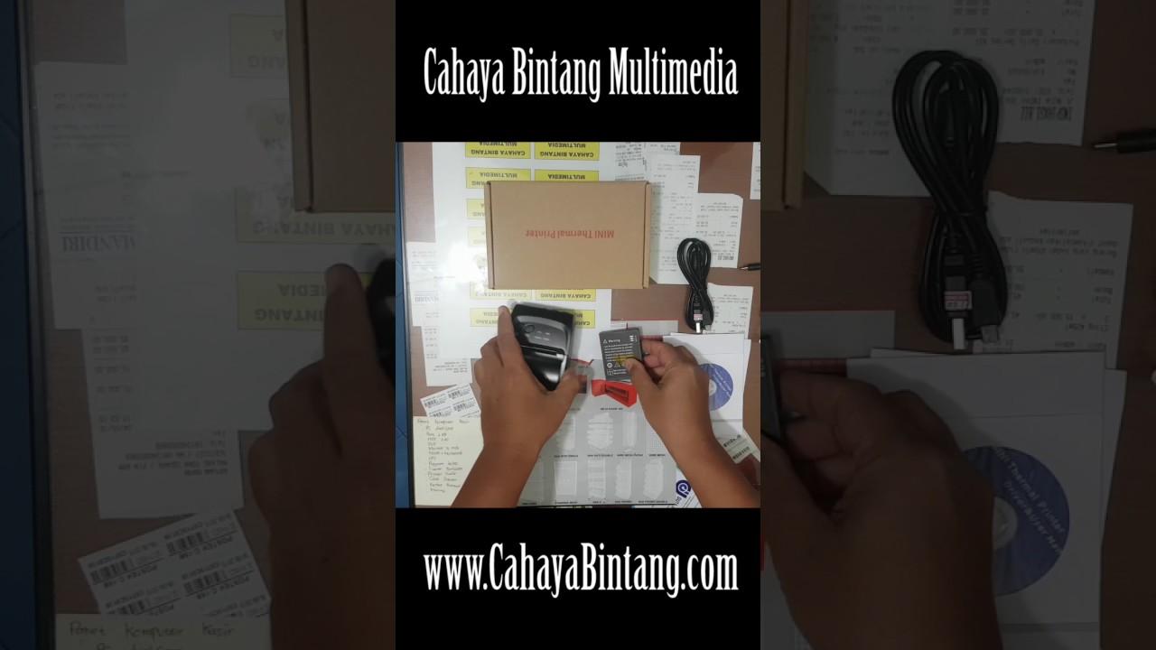 Mini Portabel Printer Thermal Bluetooth Ep5802ai Youtube Baterai Eppos