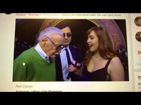 Stan Lee, to Marvel online TV, at Avengers red carpet