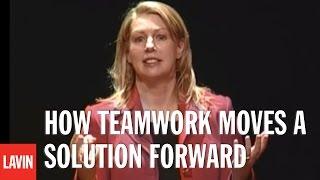 Motivational Speaker Yvonne Camus: How Teamwork Moves a Solution Forward