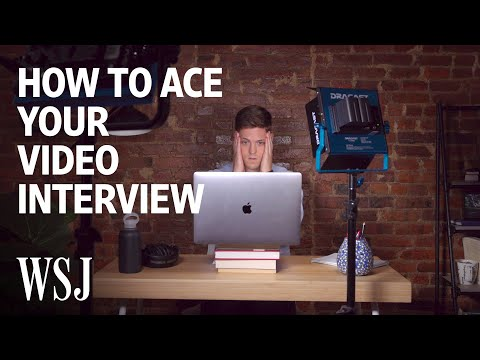 How to Ace Your Video Interview   WSJ