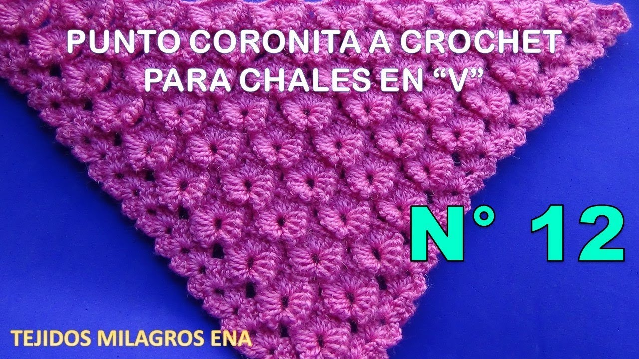 Vistoso Cómo Crochet Patrón De La Puntada V Motivo - Manta de Tejer ...