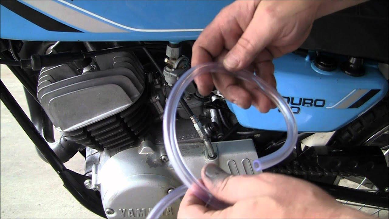 Dirt Bike Oil Filter Change Tank Fuel Line Yamaha Dt80 Motorcycle Filters Enduro Part 8 Youtube