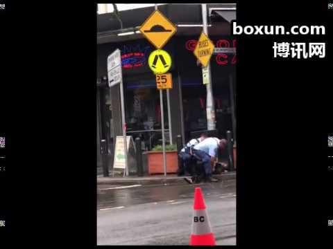 悉尼Burwood警方当街疑射电击枪,持长刀亚裔女应声倒卧
