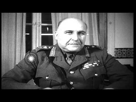 US Army Lieutenant General Jacob L Devers and British Army General Henry Maitland...HD Stock Footage