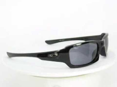 58da52cc99 Oakley Sunglasses Fives Squared 03430 Polished Black Grey.WMV - YouTube