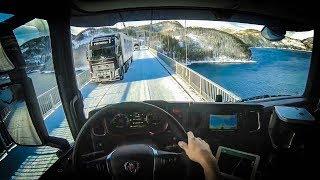 Gambar cover POV Driving nextgen Scania s520 - Winterroad in Norway