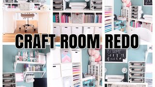 CRAFT ROOM REDO! | Organize With Me! | At Home With Quita