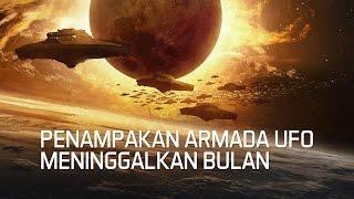 Penampakan Ratusan Armada UFO Meninggalkan Bulan