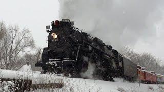 Pere Marquette 1225 North Pole Express 2016 in the Snow!