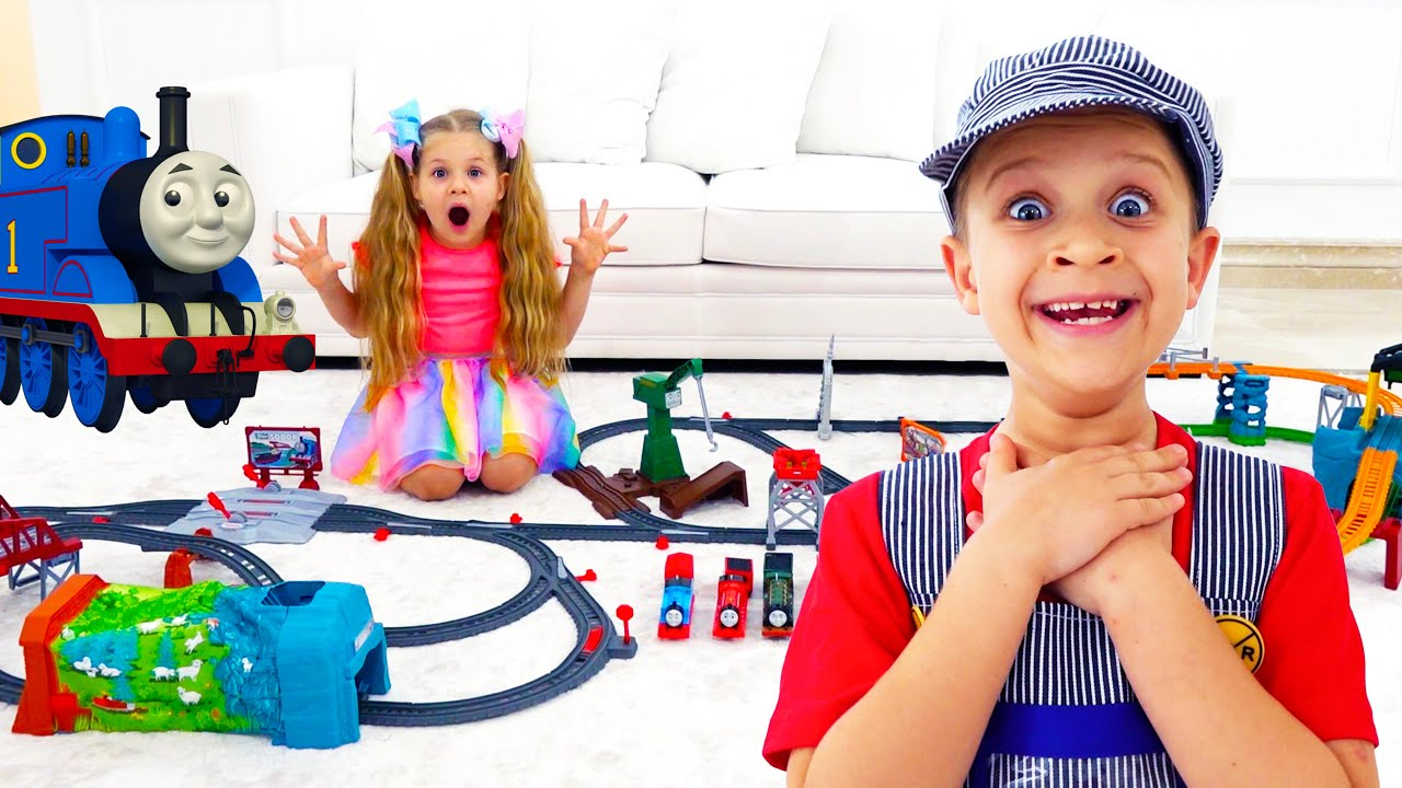 Download Diana and Roma play with Thomas & Friends toys for kids