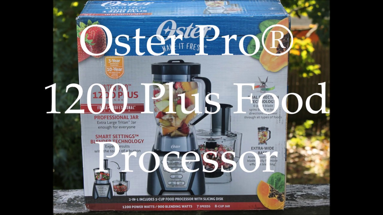 Oster Pro 1200 Plus Food Processor - YouTube