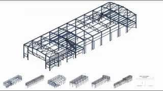 Проект типового каркаса склада по серии Молодечно с пролетами 18, 24, 30м