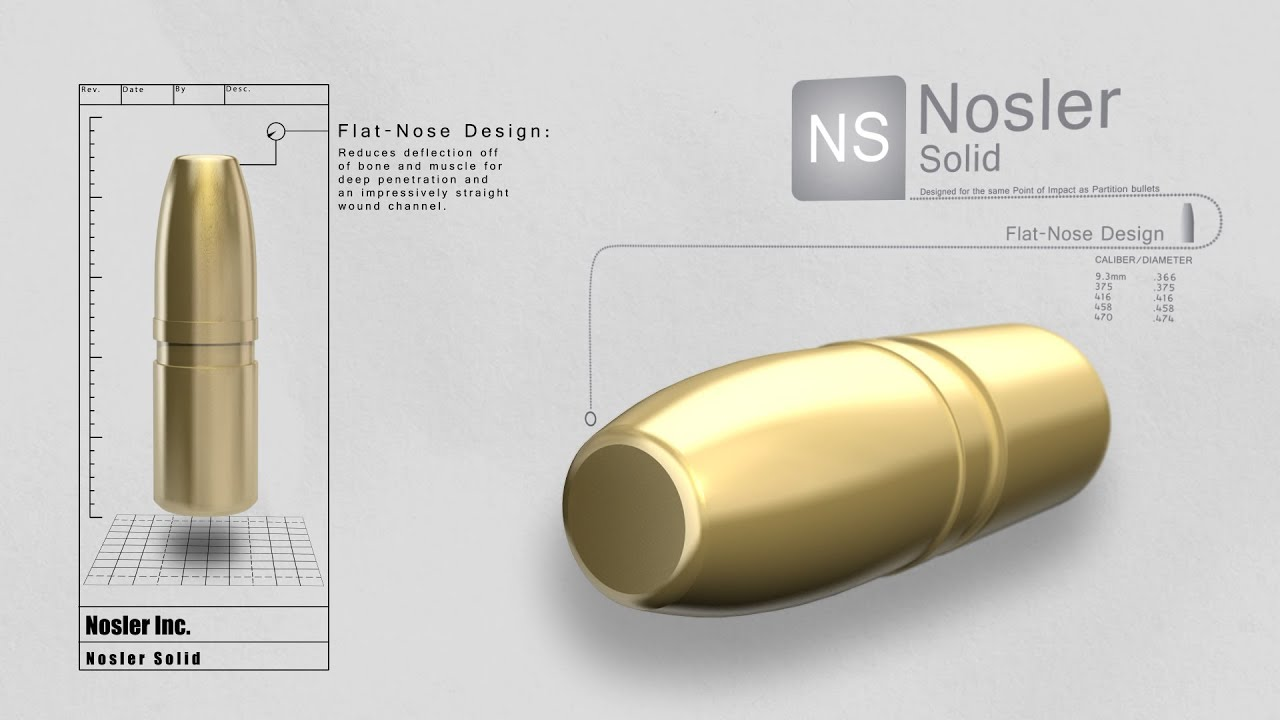 Solid Bullet | Nosler - Bullets, Brass, Ammunition & Rifles