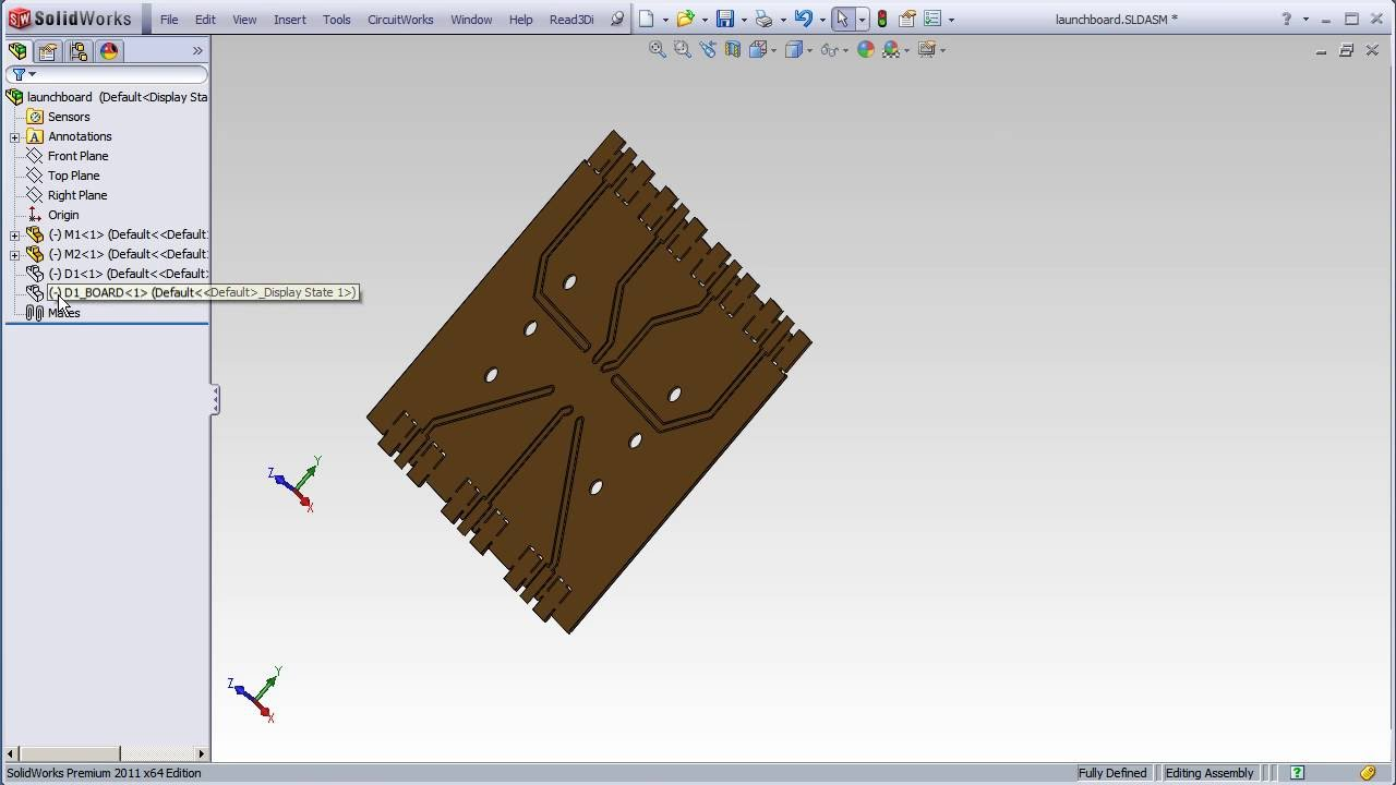 Eagle PCB (Gerber) to SolidWorks