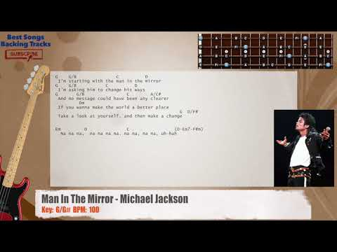 Man In The Mirror - Michael Jackson Bass Backing Track with chords ...