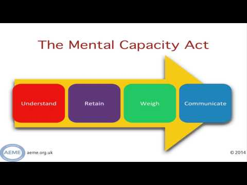 A Guide to Mental Capacity Assessment