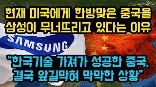 """현재 미국에게 한방맞은 중국을 삼성이 무너뜨리고 있다는 이유, """"한국기술 가져가 성공한 중국, 결국 앞길막혀 막막한 상황"""""""
