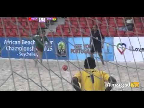 Morocco - Ghana Highlights Beach Soccer Africa cup 2015