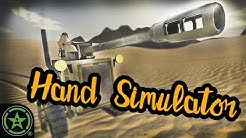 Drifting a Tank in the Sand - Hand Simulator