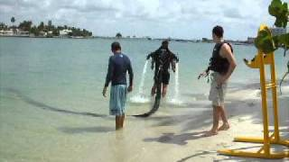 Jetlev flying in South Beach Miami