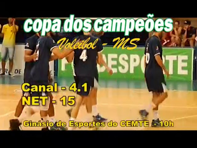 Chamada Transmisssão da 1ª Copa dos Campeões de Voleibol MS