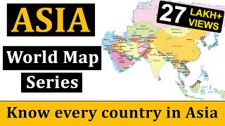 Asia Map | एशिया का मानचित्र | World Map | World Geography