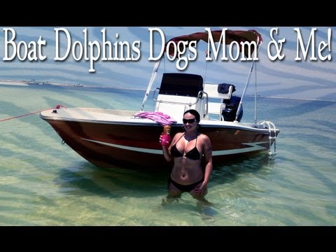 Mariah Milano - My Dogs My Mom Some Dolphins & A Perfect Day On My Boat!