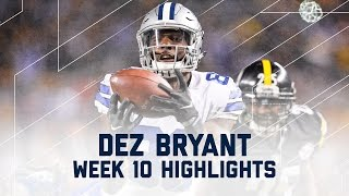Dez Bryant Comes Up Big! | Cowboys vs. Steelers | NFL Week 10 Player Highlights