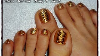 Studded Gold Vans Shoes Toe Nail Design