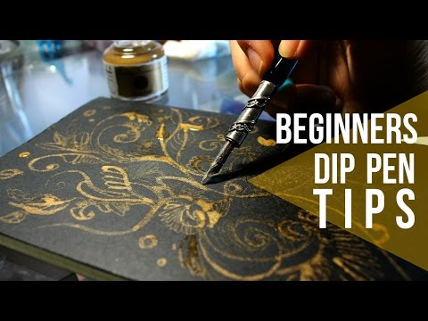 DIP PEN TIPS: GOLD Ink // Tutorial