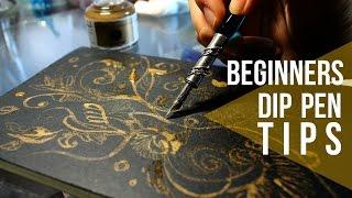DIP PEN TIPS: GOLD Ink // Tutorial